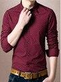 Homens da camisa 2016 Nova Vestido Casual Magro Camisa de Manga Longa Homens Soild Shirt M-4XL 3 Escolha da Cor de algodão de Alta Qualidade Camisas Casuais