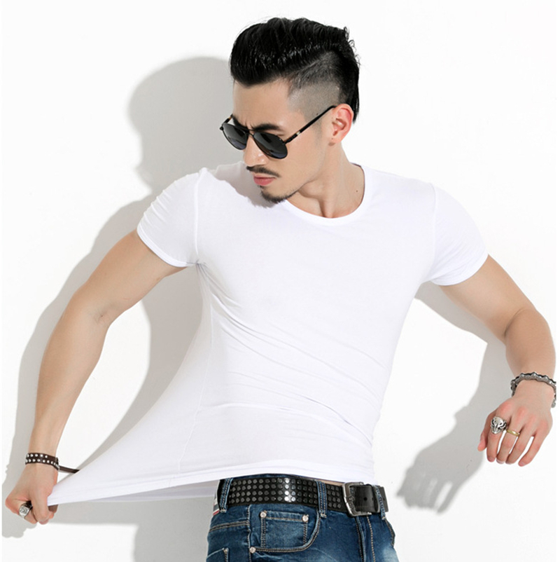 M-5XL 2pcs lot Mens Tops Tees 2019 Summer New O Neck Short Sleeve T Shirt Men Fashion Fitness Tshirt FreeShipping WHITE BLACK
