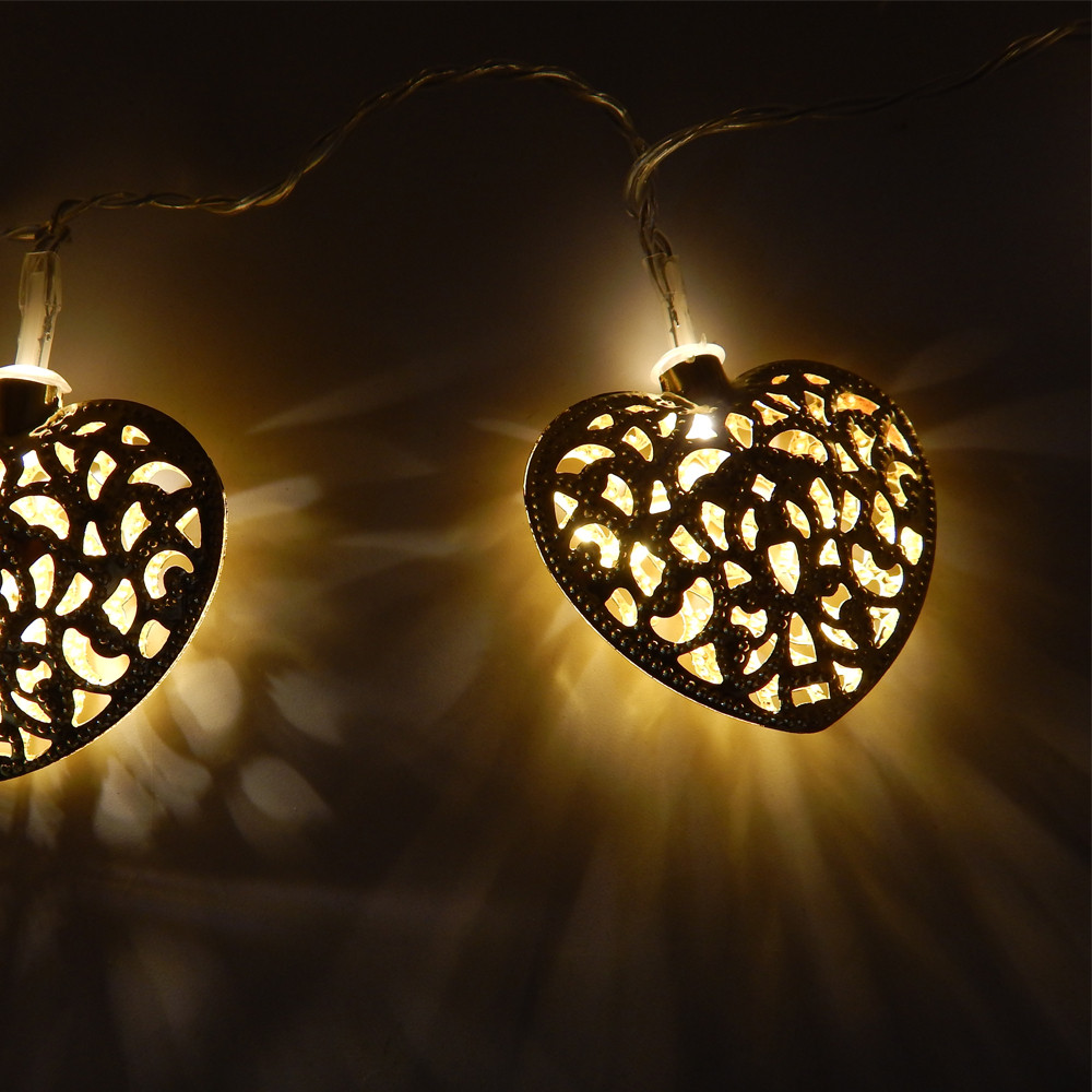 Lumiparty 20led 25m sliver heart shaped fairy string lights outdoor lumiparty 20led 25m sliver heart shaped fairy string lights outdoor christmas decorations battery operated party supplies in holiday lighting from lights aloadofball Image collections