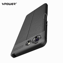 Case For Sony Xperia XZ4 Compact Cover Vpower Lichee Pattern Anti-knock Soft Silicone Cases Back Covers