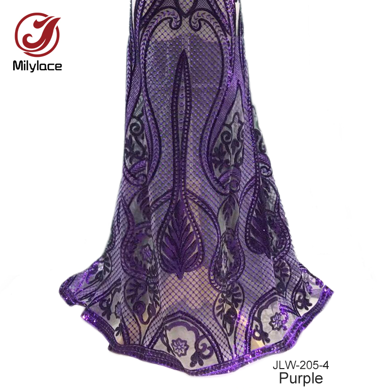 10 Available color dubai embroidery french lace fabric violet net lace fabric 5 yards enough lace