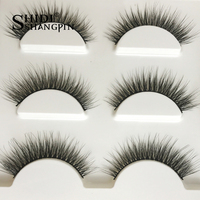 SHIDISHANGPIN 100 boxes natural long false eyelashes fake lashes makeup 3d mink lashes extension eyelash mink eyelashes