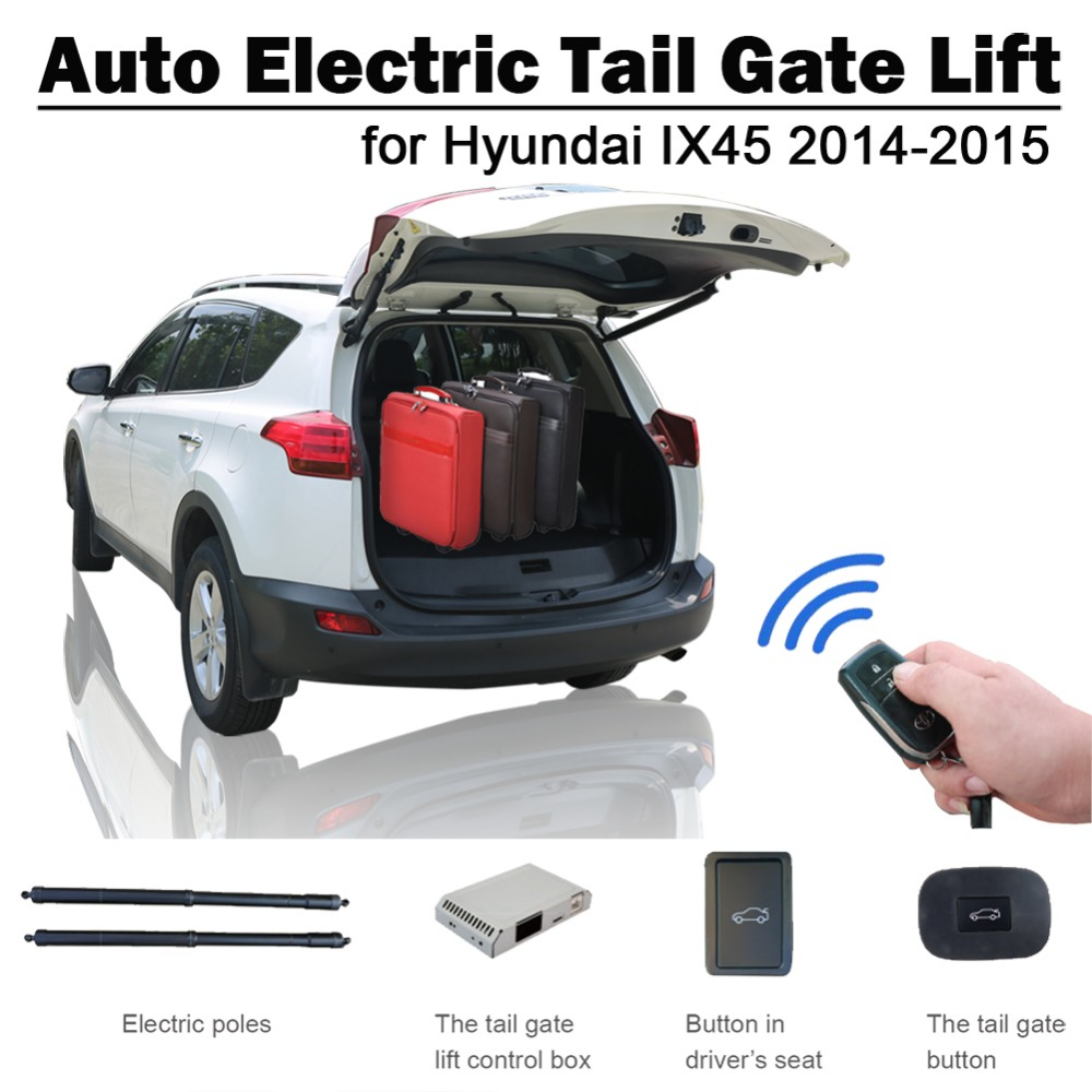 IX45 elétrica Elevador Porta Traseira para Hyundai Santa Fe 2013 2014 Assento de Carro de Controle Remoto Controle de Botão Definir a Altura de Evitar pitada