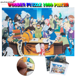 MOMEMO Naruto Puzzle Di Legno Puzzle di Legno 1000 Pezzi Di Puzzle Del Modello Del Fumetto Di Puzzle Giochi per Adulti Bambini Esercizio Pensiero Giocattoli