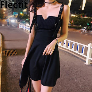 Flectit Style Dress with Straps Short Gothic Party Night 3007103351
