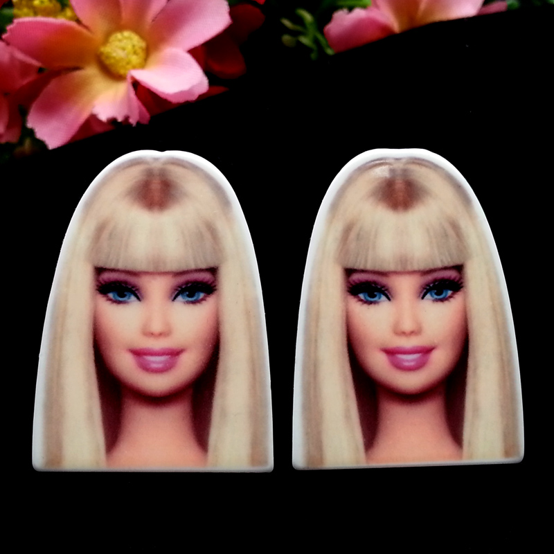 40pcs/Lot 33x24mm Cartoon Planar Resins Cabochons Plastic Flatback DIY Hair Bow Center Home Decoration Crafts