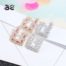 Be 8 Luxury Design Marquise Cut AAA Cubic Zirconia Stud Earring for Women Jewelry  Wedding Party Earring Brincos E604 be 8 luxury crystal aaa cubic zirconia hoop earrings for women jewelry fashion wedding brincos party hoop earring wholesale e607