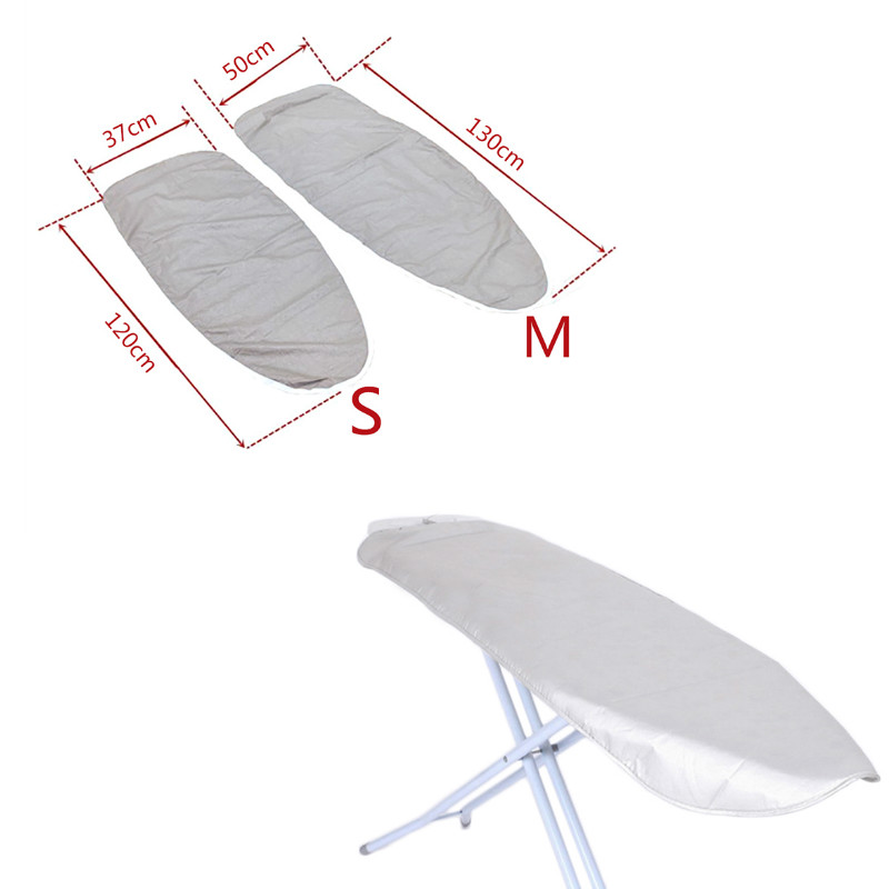 Home Universal Silver Coated Padded Ironing Board Cover Heavy Heat Reflective Scorch Resistant 120*37cm/130*50cm