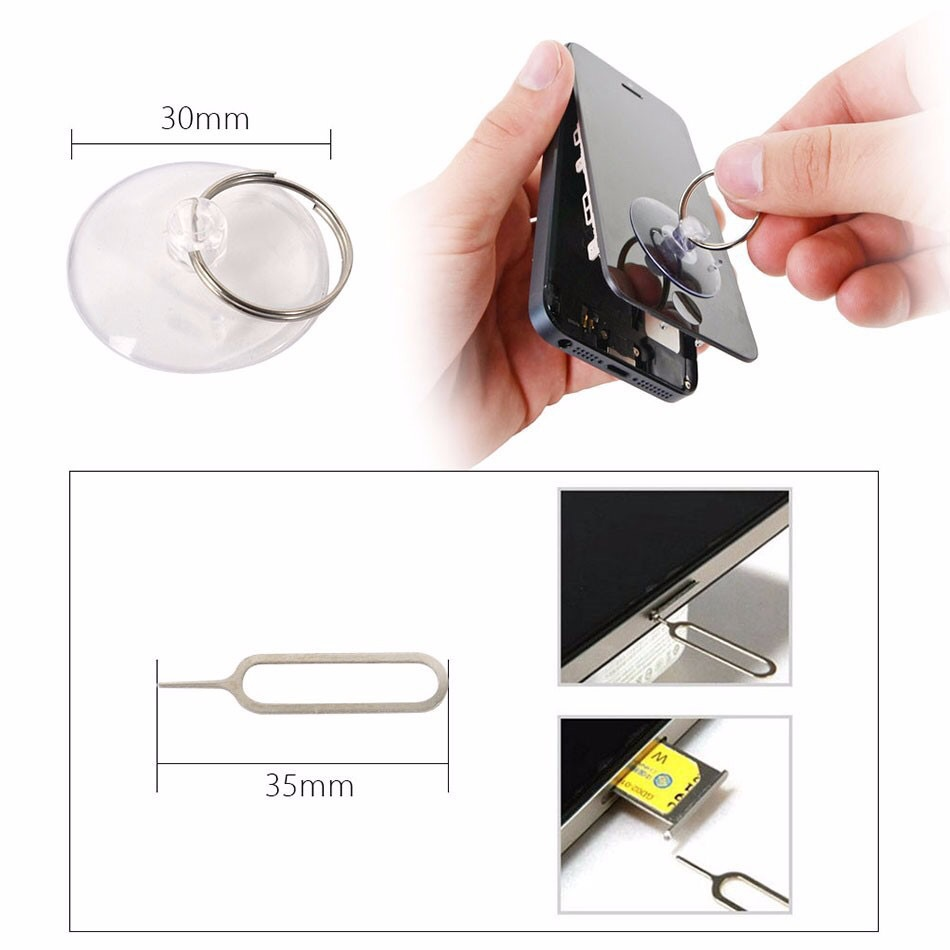 Geoeon 11 in 1 Opening Tools Disassemble Kit for iPhone 4 4s 5 5s 6 6s Smart Mobile Phone Repair Tools Kit Screwdriver Set D48
