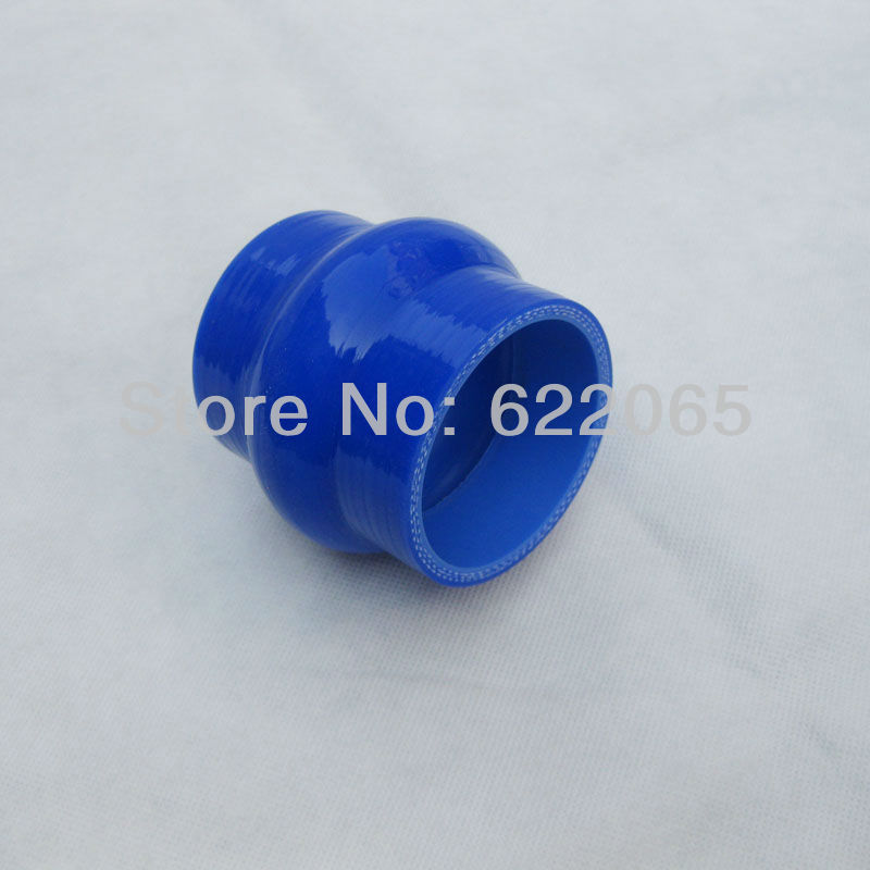 51mm(2Inch) Silicone Hump Hose Coupler Radiator Cooling System For Cars Blue(HH51)