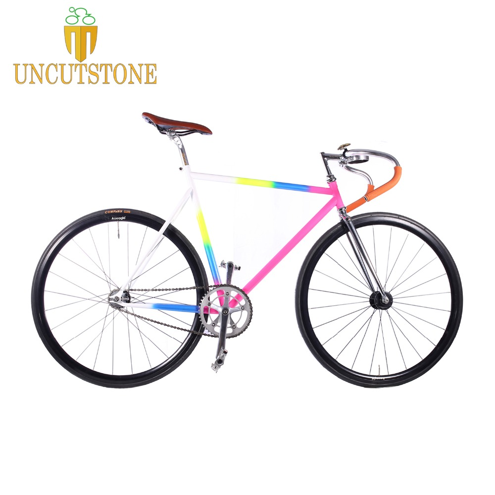 Fixie Bike 54cm 56cm 58cm  Track Single Speed Bike Fixie Bike 700C Vintage Road Bicycle Chrome Molybdenum Steel  Bike Frame