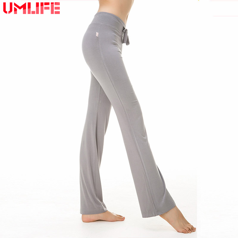 UMLIFE Yoga Pants Women Sport Leggings Running Fitness Yoga Leggings Gym Modal Elastic Waist Running Pants Plus Size Pants Dance