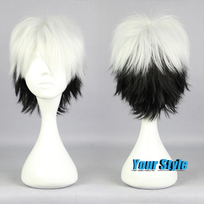 28cm Cute Short Pixie Cut Cosplay Wigs Male Black and ...