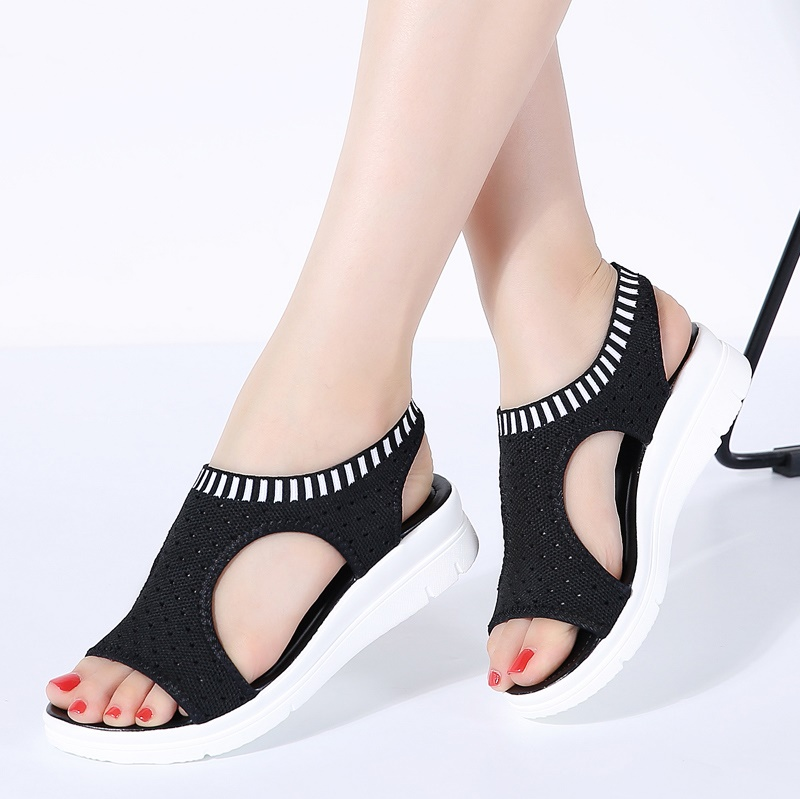 9 Farben Frauen Sandalen Sommer Neue Plattform Sandale Schuhe Atmungsaktive Komfort Einkaufen Damen Wanderschuhe Weiß Schwarz Große Größe 45 Diversifiziert In Der Verpackung