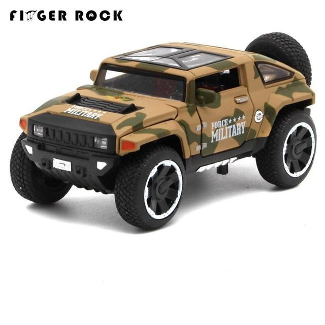 Hummer 1:32 Oyuncak Araba Camouflage HX Concept Car Model Alloy Car Boys Collection Diecast Metal Car Acousto-optic Auto Toys