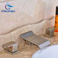 Fashionable Design New Product Waterfall Spout W Hot Cold Water Basin Faucet