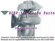 GTA2052V 752610 752610-5015S 6C1Q6K682EE 3C1Q6K682FA 1355059 Turbo For Land-Rover Defender For Ford Transit 6 Puma Duratorq 2.4L