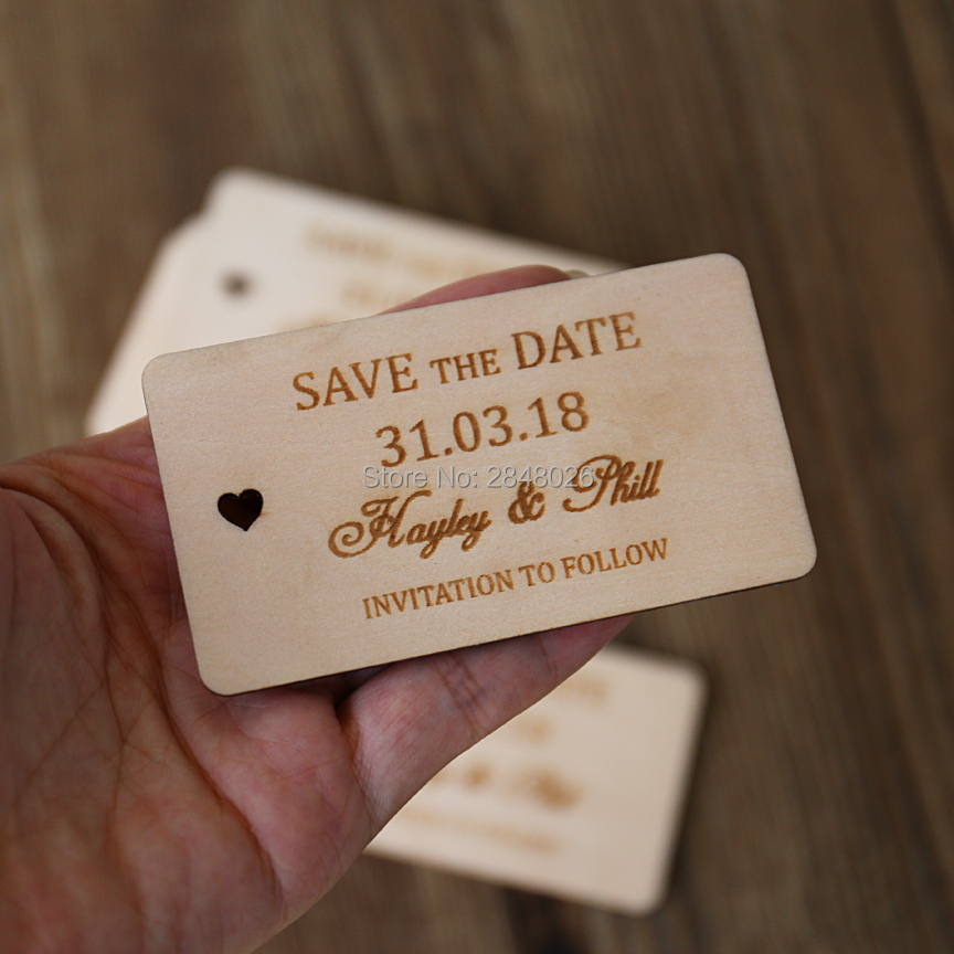Us 10 0 9 Off Custom Wooden Save The Date Tag Rustic Wedding Favor Tags Personalized Gift Wood Hang In Party Favors From Home Garden On