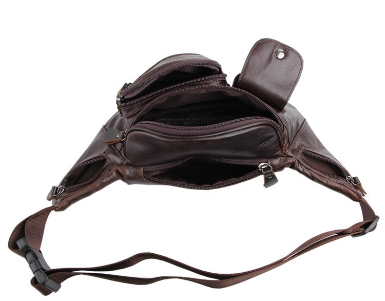 Vintage genuine leather waist packs fanny pack Fashion men small travel bag Pocket sports waist wallet  for men Free shipping (8)