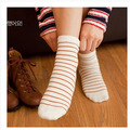 Lovely cotton Socks for women cute Candy Striped socks cotton casual women socks Breathable, antibacterial, deodorize GW-21