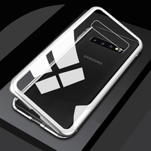 Metal Magnetic Case for Samsung Galaxy S10 Plus S10E Adsorption Glass Cover S9 S8 M20 A50