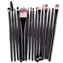Hot Selling ! Superior 15 pcs/Sets Eye Shadow Foundation Eyebrow Lip Brush Makeup Brushes Tool June 13
