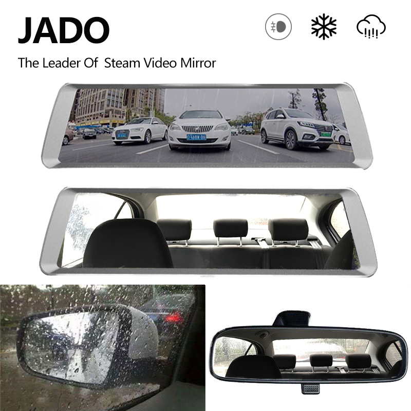 JADO D820 Car Dvr Stream RearView Mirror dash Camera avtoregistrator GPS 10 IPS Touch Screen Full HD 1080P Car Recorder dash cam яр салатовый цв 793