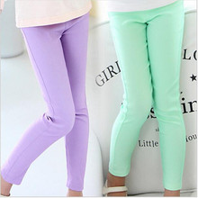 Girl leggings classic skinny pencil Long pants Solid Candy color for girls middle children Long trousers baby kids good quality