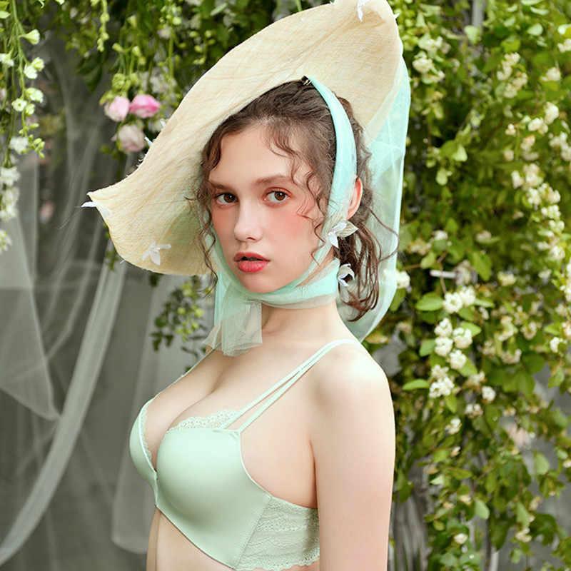 Meizimei Siêu Đẩy Lên Quần Lót BH Áo Lót Ngực Cho Nữ Trước Đóng Cửa Không Dây Gợi Cảm Kích Thước Nhỏ Quần Lót Crop Tops Áo cô Gái