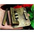 1 комплект  бронзовая латунная коробка  чемодан  защелка  замок для деревянного ящика  для дома  для работы по дереву  античный замок
