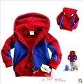 Outono e crianças homem aranha para meninos jaqueta hoodies Spiderman casacos crianças