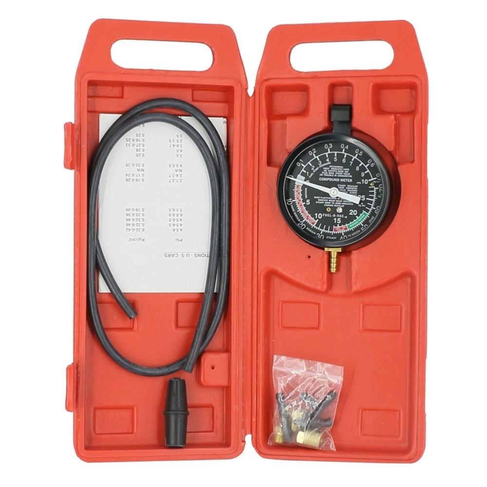 TU 1 Vacuum Fuel Pump Pressure Tester Pressure Gauge Test Tool Kit New Carburettor Valve Auto