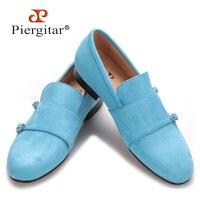 Piergitar/2018 для мужчин бархатные туфли с бархатной застежкой вечерние партии и банкета повседневная обувь Британский Стиль Модные лофери