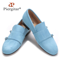 Piergitar 2020 men velvet shoe with velvet Hasp Party and Banquet men casual shoes British style men fashion loafers Plus size