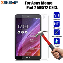 XSKEMP 9H LCD Premium Tempered Glass For Asus Memo Pad 7 ME572 C/CL Tablet PC No Fingerprint Screen Protector HD Protective Film