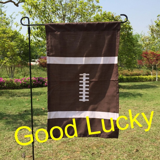Us 29 5 10pcs Lot Free Shipping Sport Garden Flag Monogram Personalized Garden Flag Summer Outdoor Flags Decoration Mix 5 Designs In Flags Banners