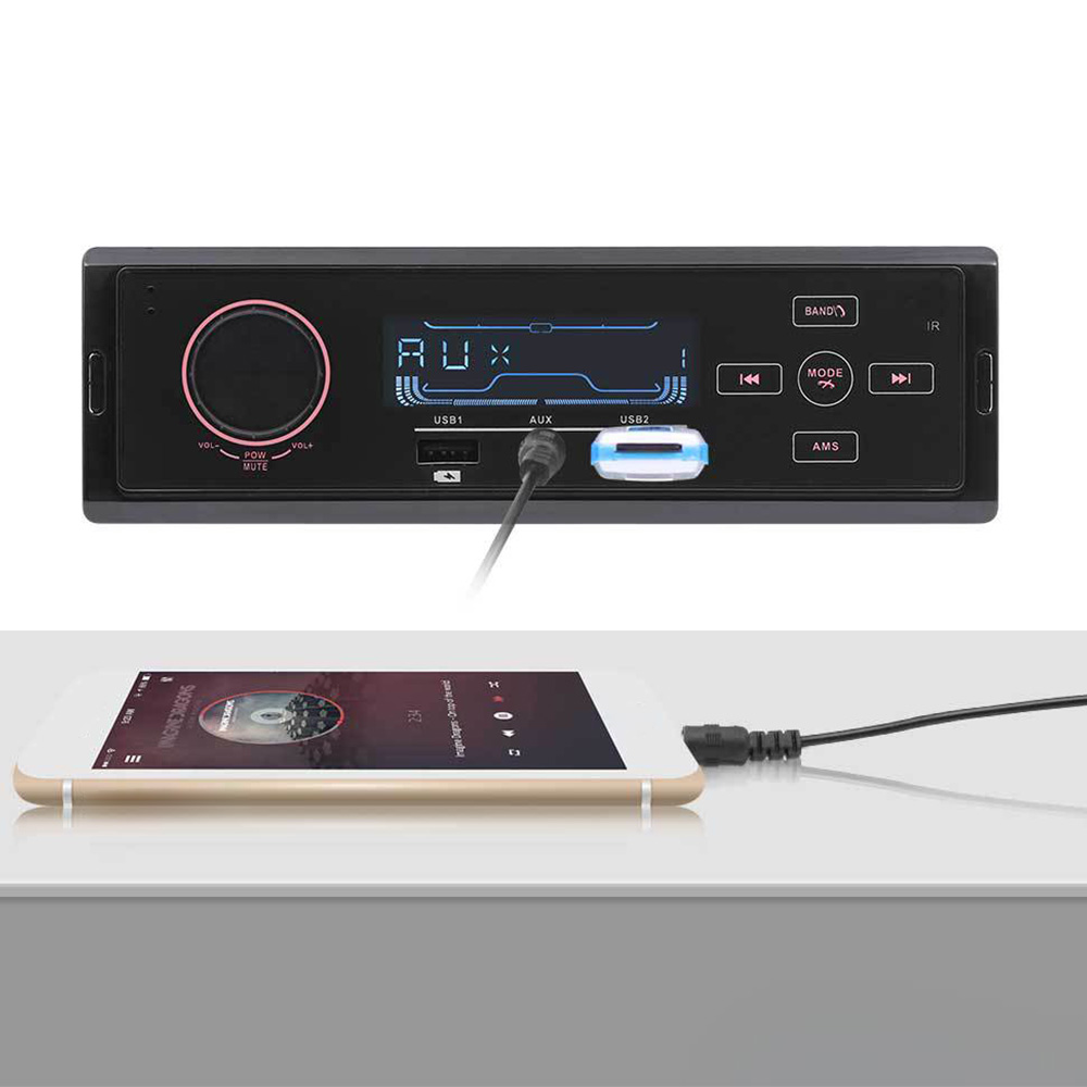 12V Car MP3 Player Bluetooth Audio Car Radio Call MP3 Player Stereo USB AUX Classic Audio Hot Sale image