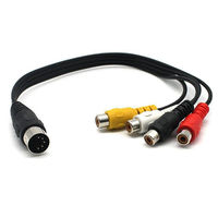 CY 5pcs 5 Pin Male Din Plug to 4 RCA Phono Female Plugs Audio Cable