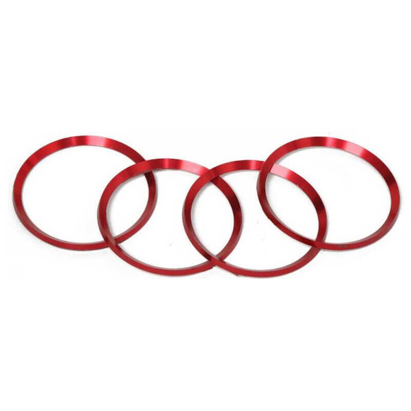 4 * אדום אלומיניום סגסוגת גלגל מרכז רכזת טבעת Trim עבור טויוטה קאמרי 2018 2019 הטוב ביותר