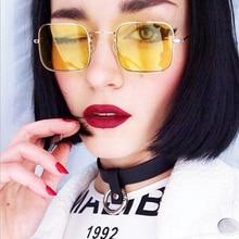2019 Rectangle Mirror Sunglasses Fashion Women Man  Metal Vintage Sun Glasses Brand Designer Classic UV400