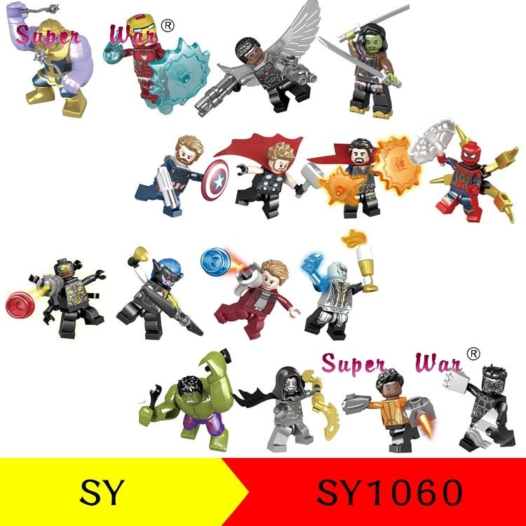 Sy1060 Avengers Infinity War Hulk Corvus Glaive Thanos Iron Man Spiderman Outrider Building Blocks Kid Bricks Toys For Childre Blocks