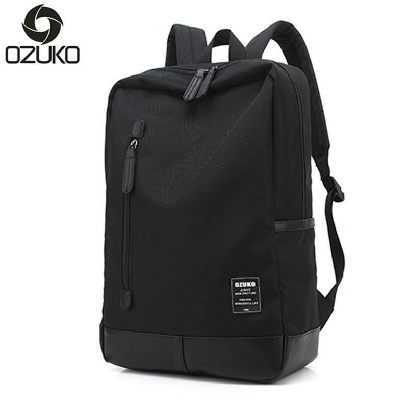 OZUKO High Quality Unisex Canvas Women Backpack Casual Male Men Laptop Backpacks Black School bags For Girls mochila feminina цена