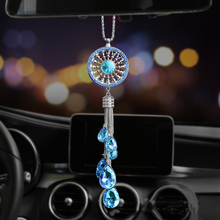 Car Hanging Pendant Crystal Diamond Decoration Dream Catcher Suspension Ornament Charms Automobiles Rearview Mirror Dangle Decor