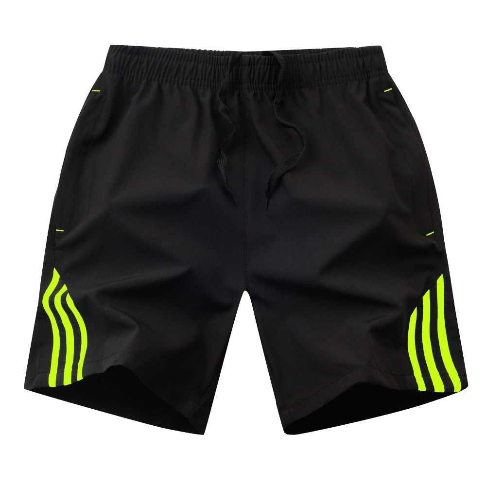 Verão calções de praia dos homens rapidamente seco xadrez calções de praia exercício fino ajuste sólida bermudas masculinas plus size