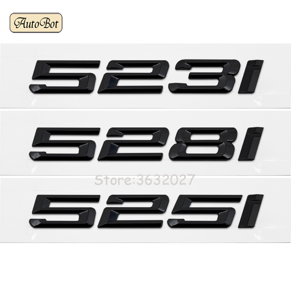 For BMW 5 Series E12 E28 E34 E39 E60 E61 F10 F11 F07 523i 528i 525i Chrome Number Letters Rear Trunk Emblem Badge Sticker car styling for mercedes benz g series w460 w461 w463 g230 g300 g350 chrome number letters rear trunk emblem badge sticker