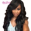 heavy density 180% glueless lace front wigs free shipping brazilian virgin hair full lace wigs with bangs baby hair around