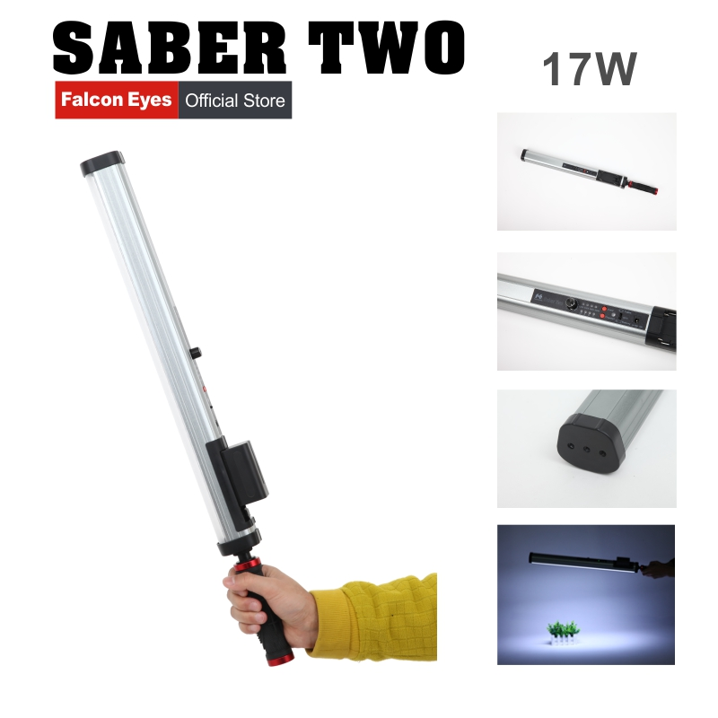 Falcon Eyes SA-2(Sarber2) Video Light 22W High CRI 4 Color Temperatures w/Dimmable Power Output Handheld LED Light Stick цены онлайн