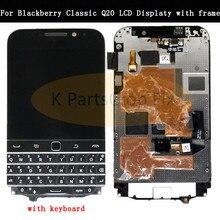 3.5 Blackberry Classic Için Q20 LCD ekran dokunmatik ekranlı sayısallaştırıcı grup Blackberry Q20 LCD Çerçeve klavye