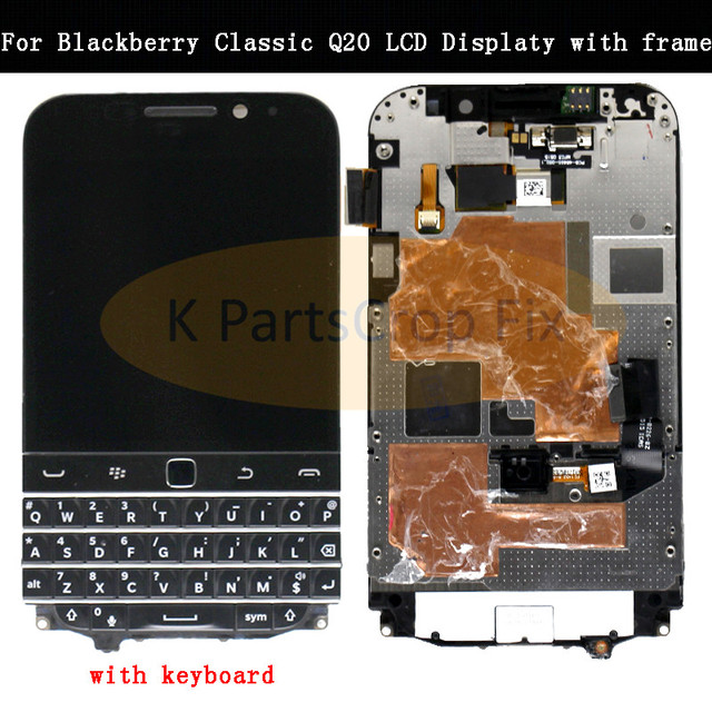 3,5 Für Blackberry Klassische Q20 LCD Display Touchscreen Digitizer Montage Für Blackberry Q20 LCD mit Rahmen mit tastatur