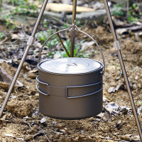 TOAKS 1.6L Titanium Pot Camping Cooking Pots Picnic Hang Pot Ultralight Titanium Pot 1600ml|camping cooking pot|titanium pot|toaks titanium pot -